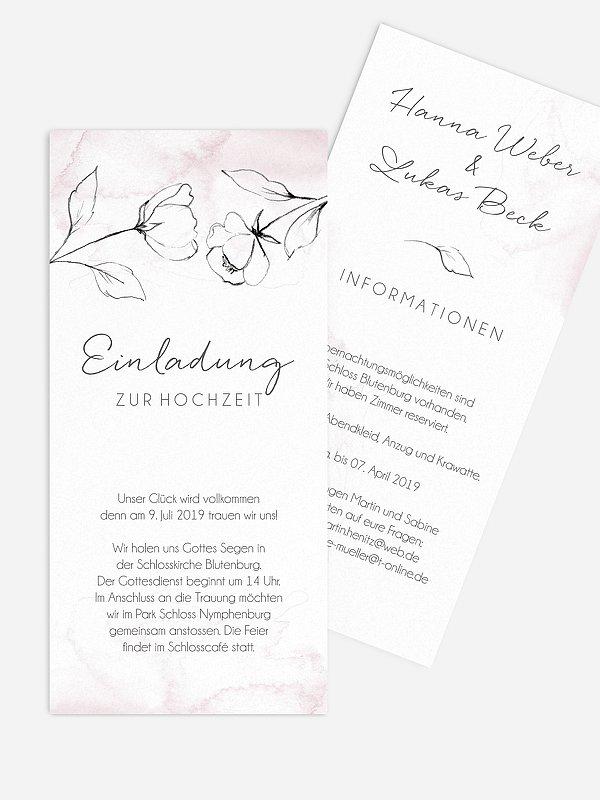 Hochzeitseinladung Zarte Blüte