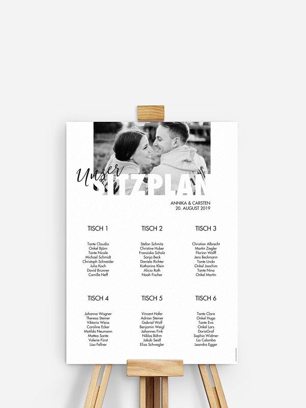Sitzplan Plakat Wir Heiraten