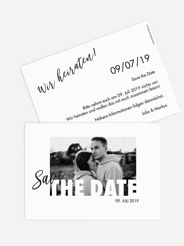 Save-the-Date Karte Wir Heiraten