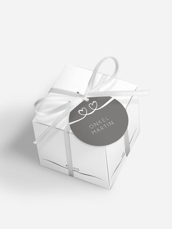 Gastgeschenkbox personalisiert Herzklopfen Premium