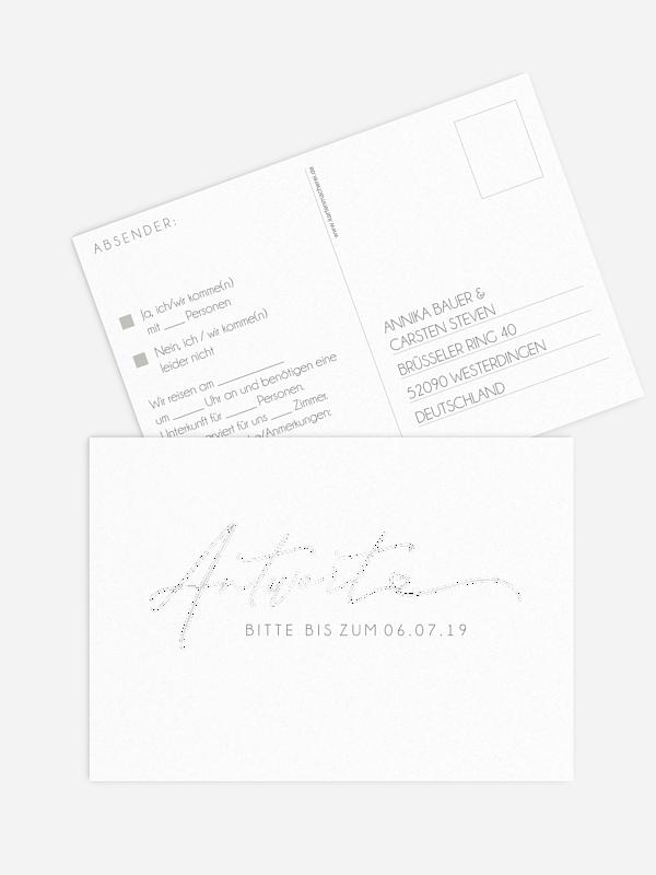 Antwortkarte Hochzeit Herzklopfen Premium