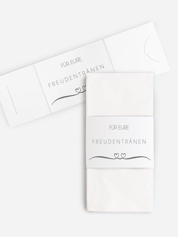 Freudentränen-Taschentücher Herzklopfen Premium