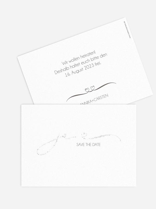 Save-the-Date Karte Herzklopfen Premium