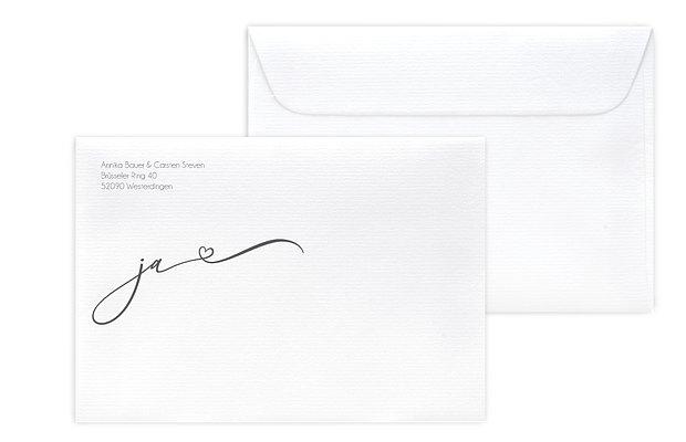 Briefumschlag mit Motiv Herzklopfen Premium
