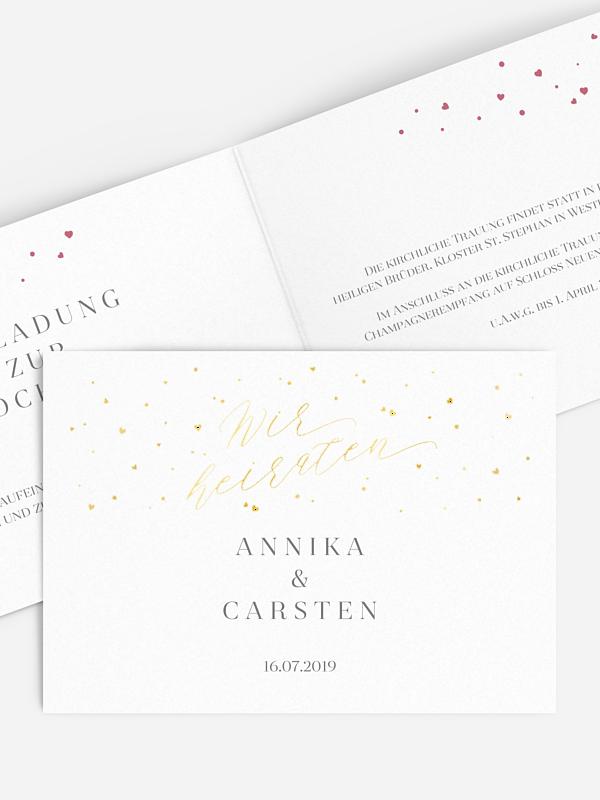 Hochzeitseinladung Sparkling Love Premium