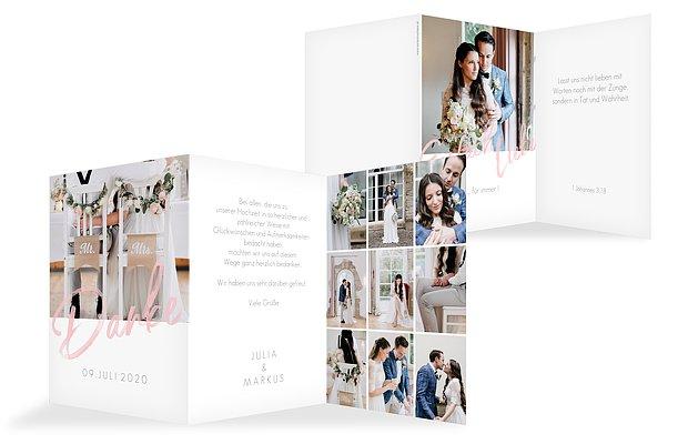 Dankeskarte Hochzeit Einfach Liebe