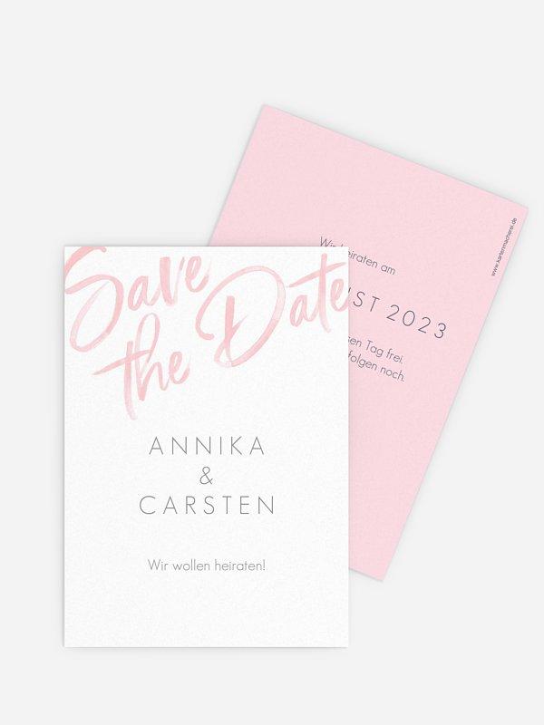 Save-the-Date Karte Einfach Liebe
