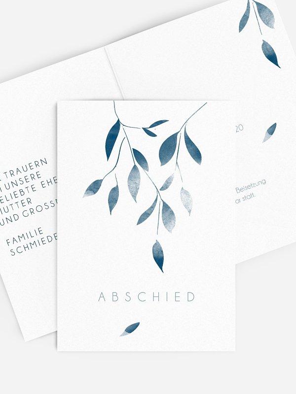 Trauerkarte Blätterzweig