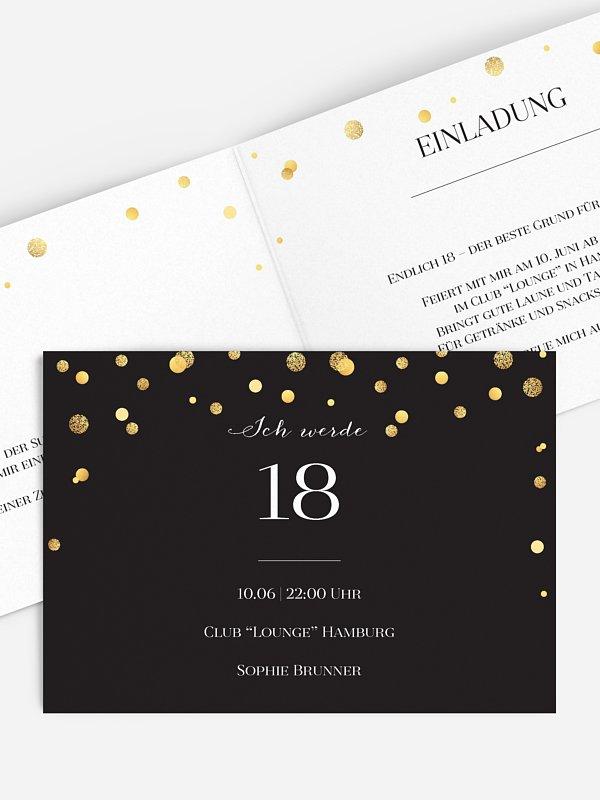 Einladung 18. Geburtstag Let It Sparkle