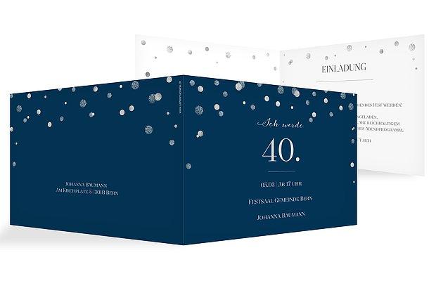 Einladung 40. Geburtstag Let It Sparkle