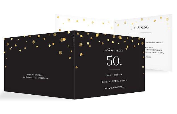 Einladung 50. Geburtstag Let It Sparkle