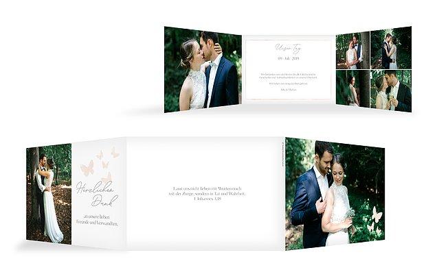 Dankeskarte Hochzeit Farfalla