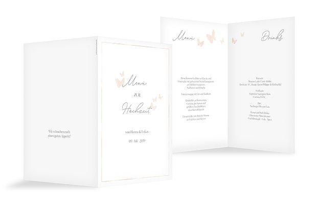 Menükarte Hochzeit Farfalla