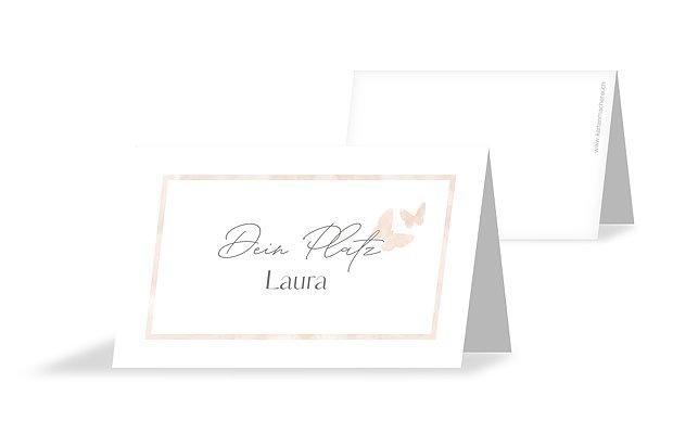 Tischkarte Hochzeit Farfalla