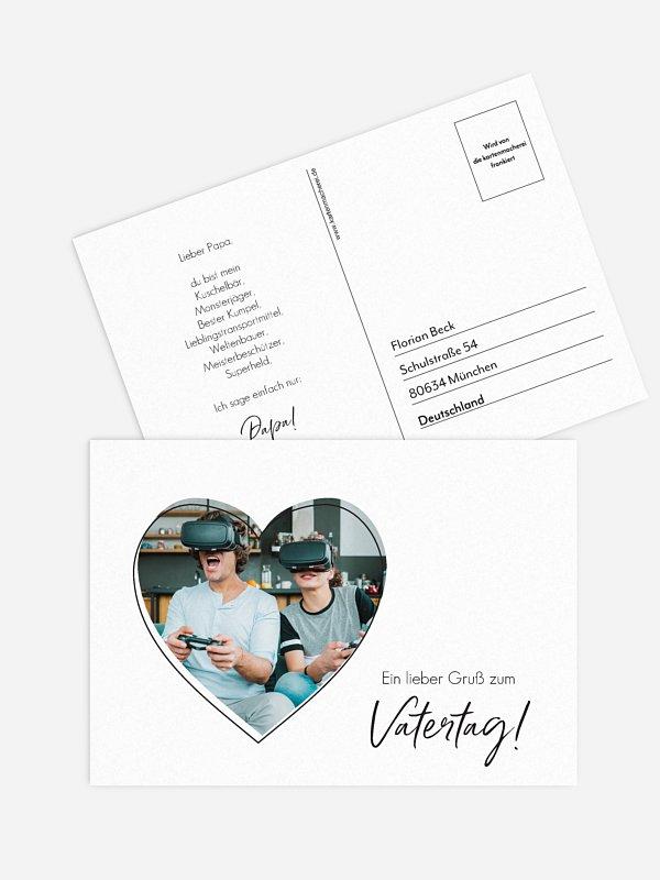 Postkarte Direktversand Familien Herz
