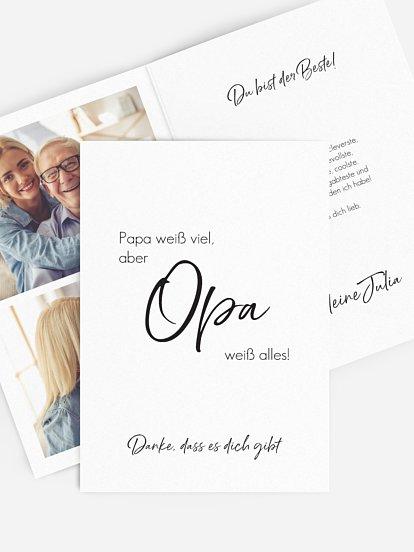 """Karte zum Vatertag """"Opa weiß alles"""""""
