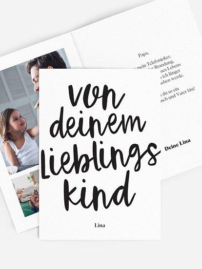 "Karte zum Vatertag ""Lieblingskind"""