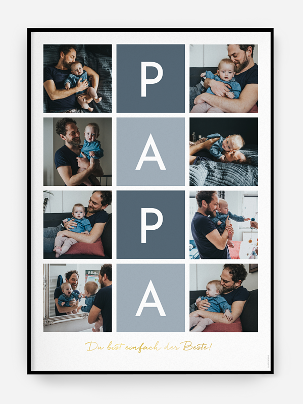 Poster Vatertag Buchstabensalat