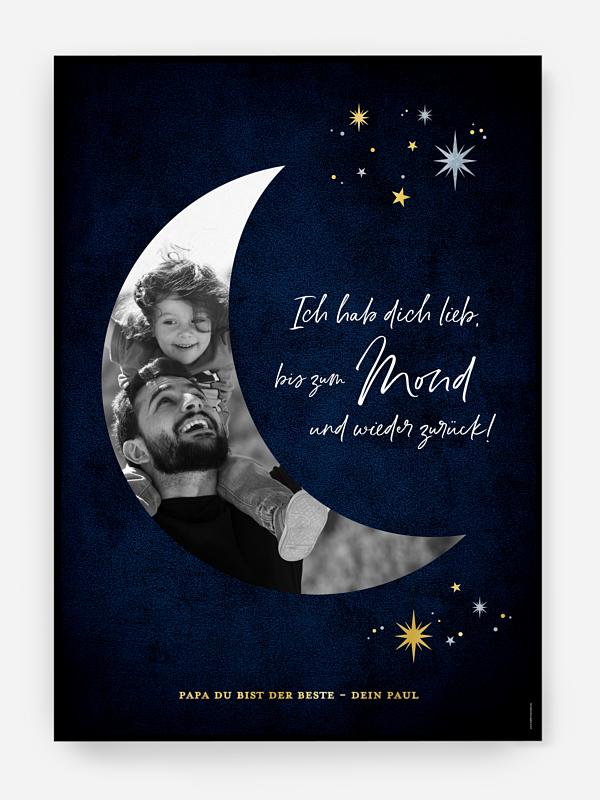 Poster Vatertag Bis zum Mond