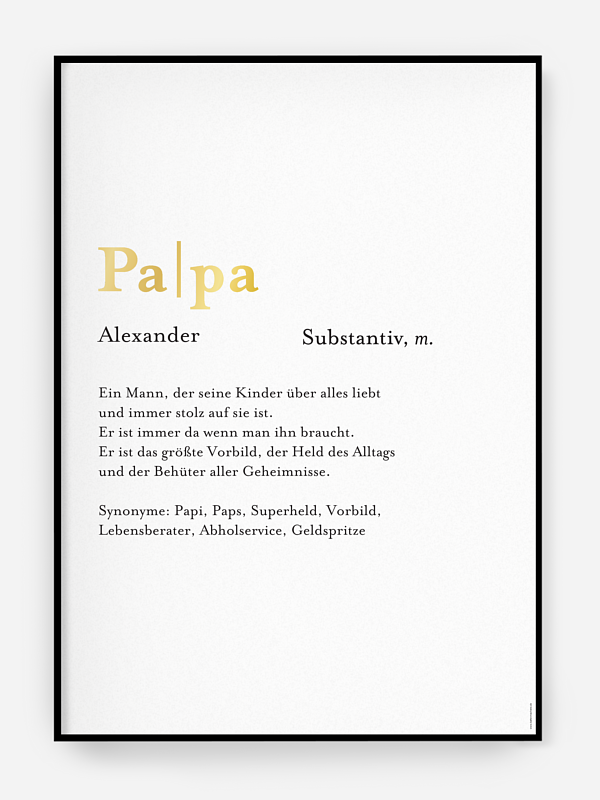 Poster Vatertag Meanings