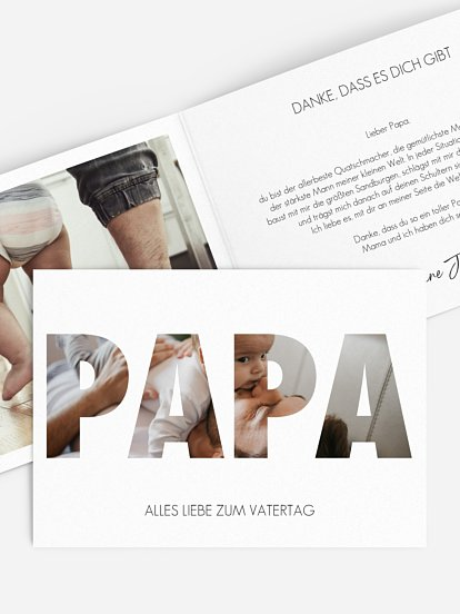 """Karte zum Vatertag """"Bild für Papa"""""""