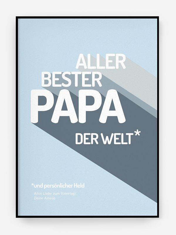 Poster Vatertag Retro