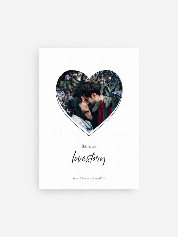 Poster Valentinsherz