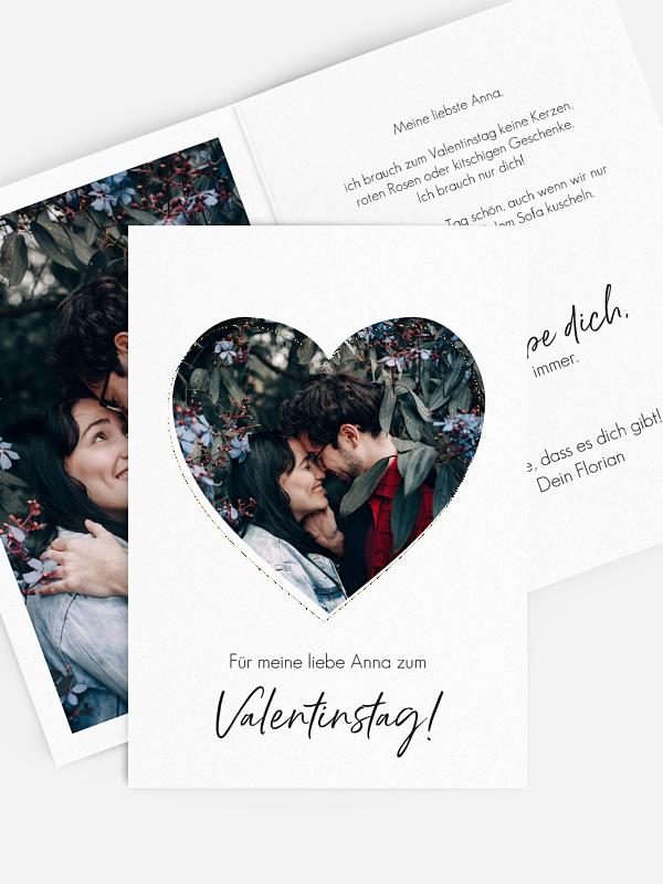 Karte zum Valentinstag Valentinsherz