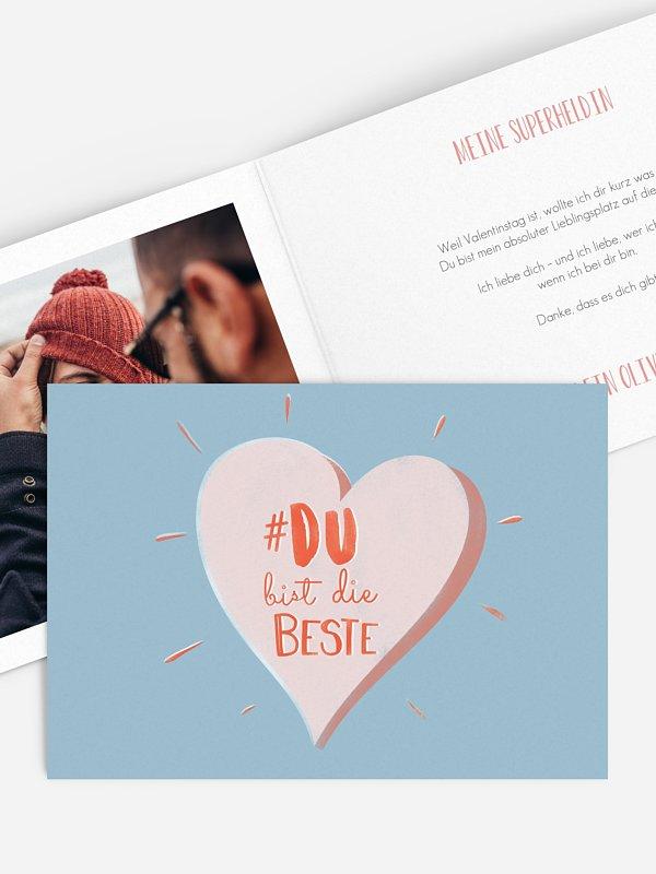 Karte zum Valentinstag Die Besten