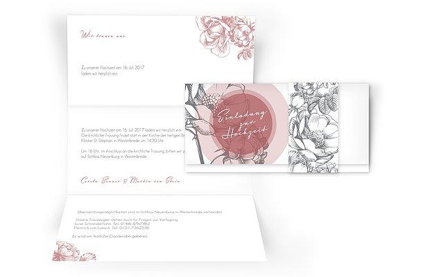 Hochzeitseinladung Peony