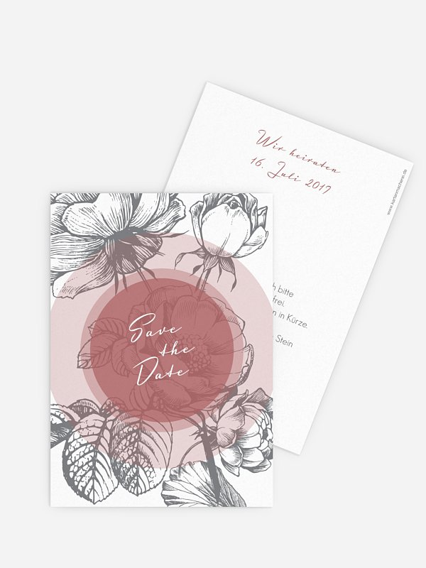 Save-the-Date Karte Peony