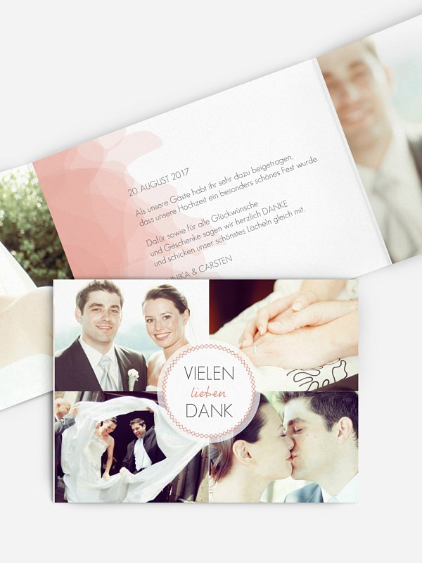 Dankeskarte Hochzeit Silk Colours