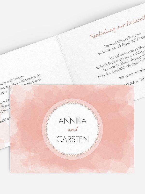 Hochzeitseinladung Silk Colours
