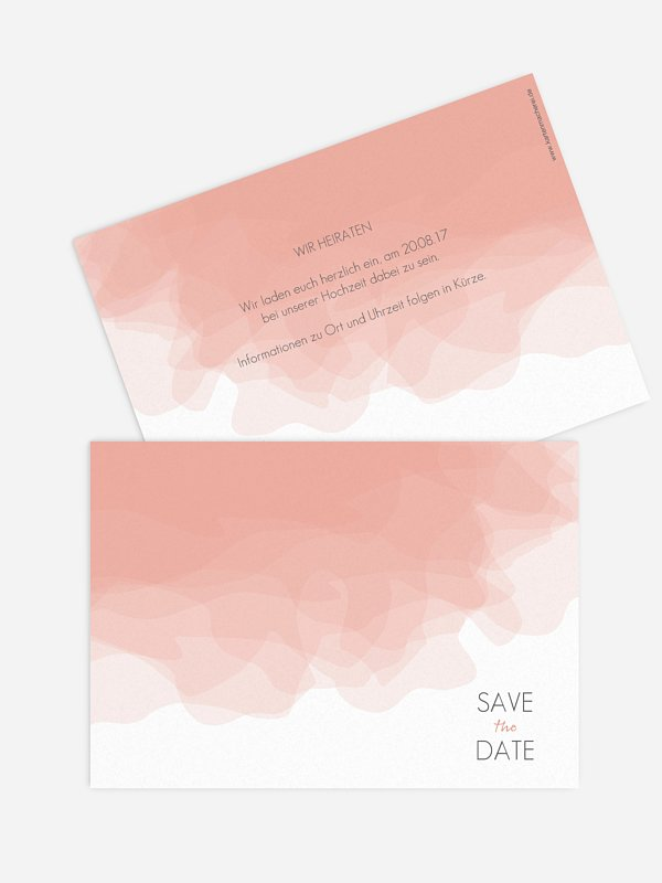 Save-the-Date Karte Silk Colours