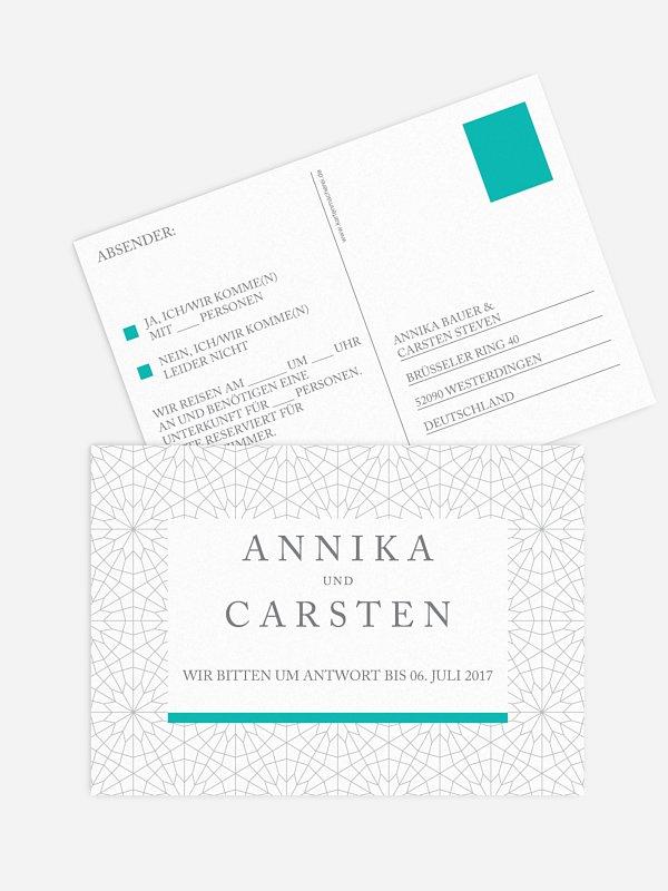 Antwortkarte Hochzeit Marrakesch