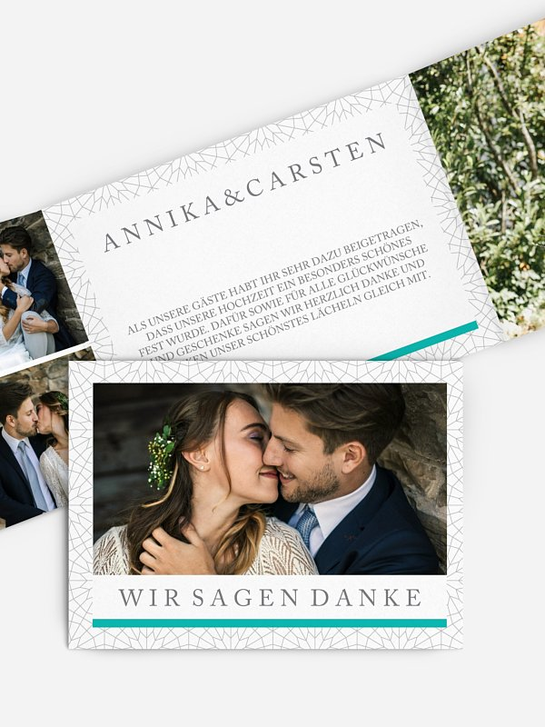 Dankeskarte Hochzeit Marrakesch