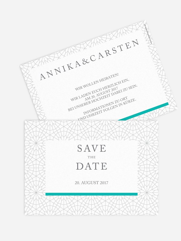 Save-the-Date Karte Marrakesch