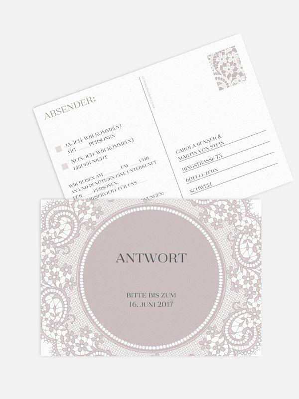 Antwortkarte Hochzeit Chantilly