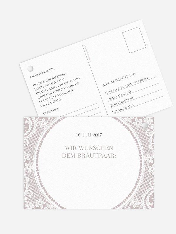 Ballonkarte Hochzeit Chantilly