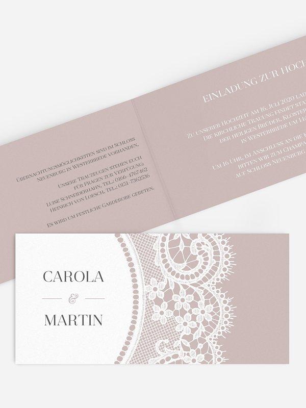 Hochzeitseinladung Chantilly