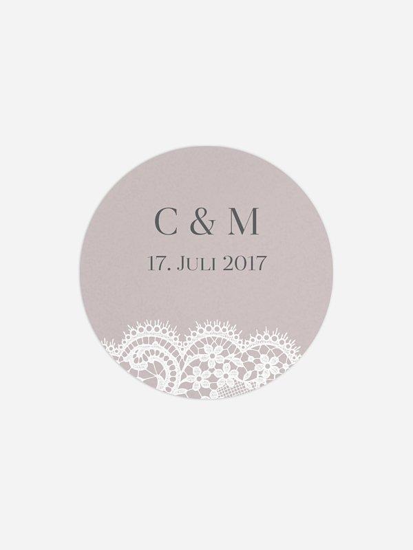 Geschenkaufkleber Hochzeit Chantilly