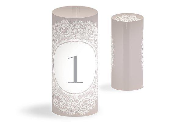 Numéro de table mariage Dentelle chic