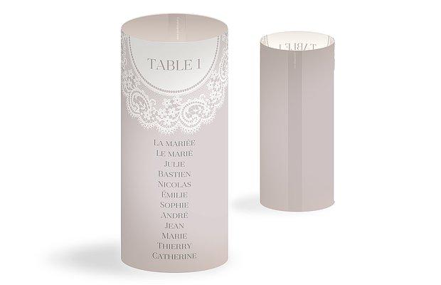 Nom de table mariage Dentelle chic