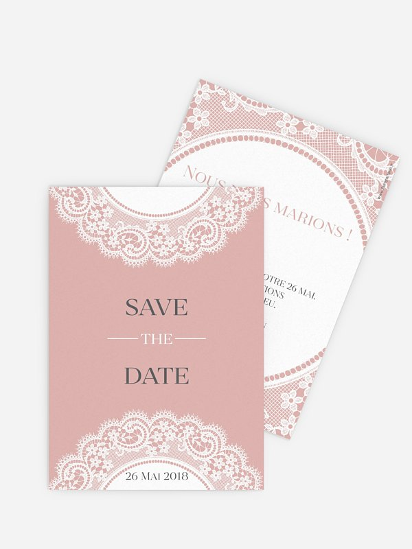 Save the date Dentelle chic
