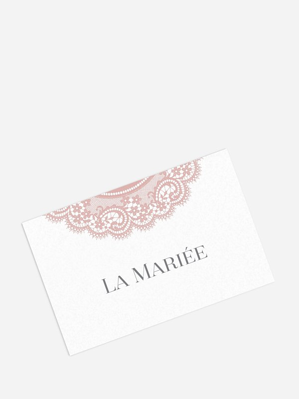Marque-place mariage Dentelle chic