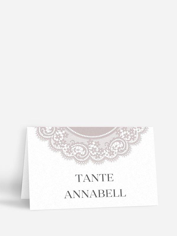 Tischkarte Hochzeit Chantilly