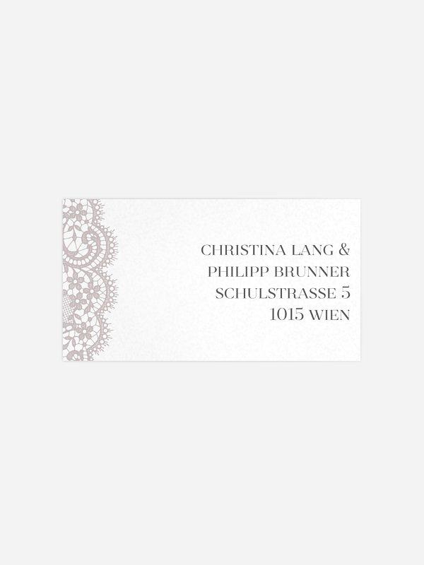 Empfängeraufkleber Hochzeit Chantilly