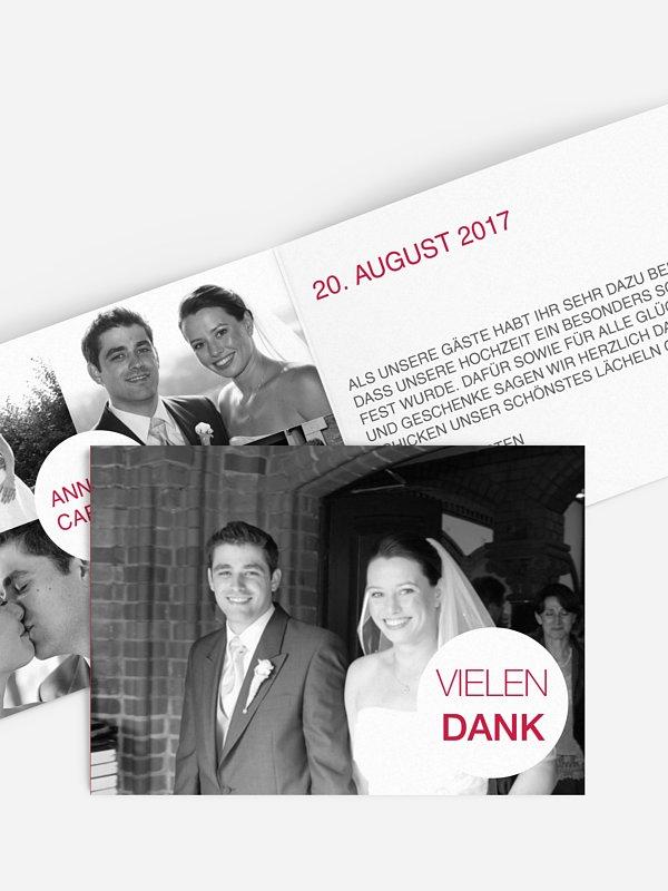 Dankeskarte Hochzeit Statement
