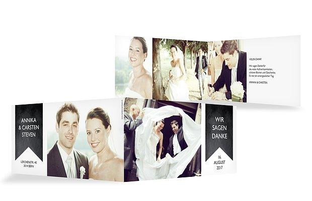 Dankeskarte Hochzeit High Class