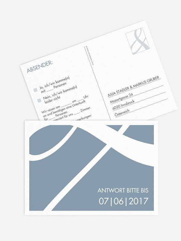 Antwortkarte Hochzeit Perfect Match